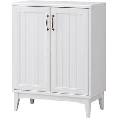 白井産業 レトロモダンの甘さを抑えた白い家具 シューズラック Retroa レトロア RTA-9575D