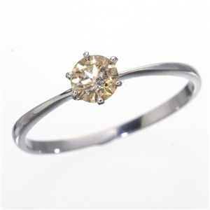 その他 K18WG (ホワイトゴールド)0.25ctライトブラウンダイヤリング 指輪 183828 17号 ds-160348