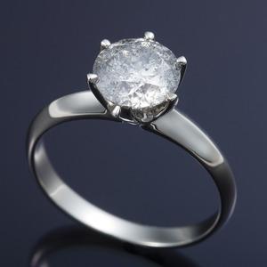 その他 プラチナPt900 超大粒1.5ctダイヤリング 指輪 (鑑定書付き) 19号 ds-168469