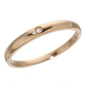 その他 K18 ワンスターダイヤリング 指輪  K18ピンクゴールド(PG)21号 ds-190657