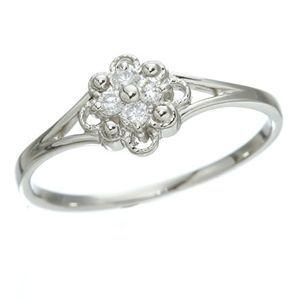 その他 プラチナダイヤリング 指輪 デザインリング3型 フローラ 7号 ds-392952