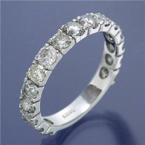 その他 K18WG ダイヤリング 指輪 2ctエタニティリング 15号 ds-453310