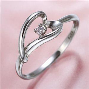 その他 ピンクダイヤリング 指輪 ハーフハートリング 9号 ds-464673