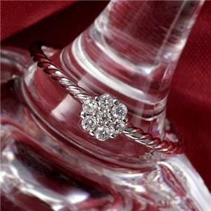 その他 K14WG(ホワイトゴールド) ダイヤリング 指輪 セブンスターリング 9号 ds-465415