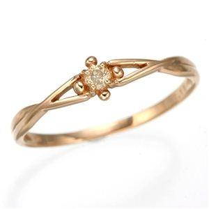 その他 K10 ピンクゴールド ダイヤリング 指輪 スプリングリング 184273 15号 ds-474202