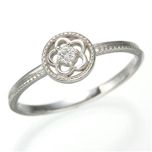 その他 K10 ホワイトゴールド ダイヤリング 指輪 スプリングリング 184285 7号 ds-474214