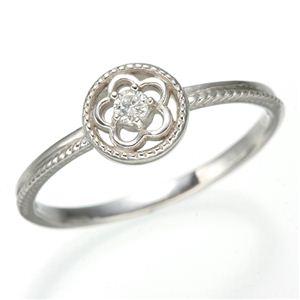 その他 K10 ホワイトゴールド ダイヤリング 指輪 スプリングリング 184285 15号 ds-474218