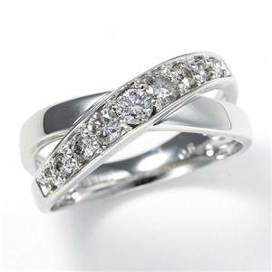 その他 0.5ct ダブルクロスダイヤリング 指輪 エタニティリング 17号 ds-505984