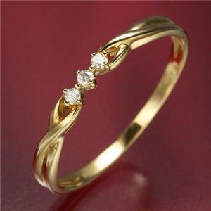 その他 K18ダイヤリング 指輪 デザインリング 19号 ds-506980