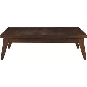 その他 伸長式ローテーブル 木製(天然木) 木目調 CPN-102BR ブラウン ds-690493