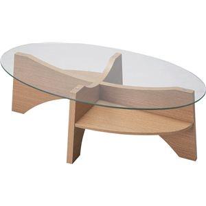 お買い得モデル その他 オーバル型ローテーブル 強化ガラス製 LE-454NA ナチュラル ds-690866, ソファ座椅子専門店 白鶴 1760b4aa