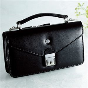 その他 【日本製】家紋付 礼装多機能バッグ (小) 鍵付◆丸に二つ引き backs-20 ds-770789
