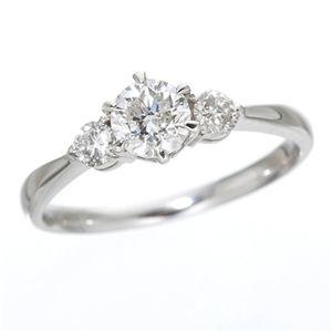 その他 K18ホワイトゴールド0.7ct ダイヤリング 指輪 キャッスルリング 15号 ds-789305
