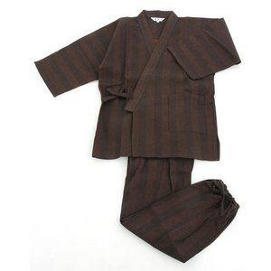 その他 纏(まとい)織作務衣 141-1905 濃茶モカ Mサイズ ds-849795