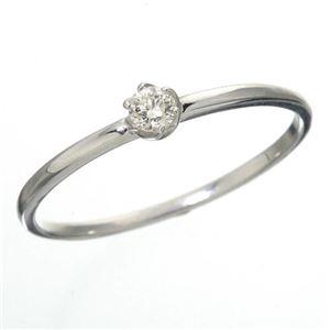 その他 K18 ダイヤリング 指輪 シューリング ホワイトゴールド 17号 ds-867642
