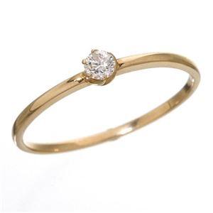 その他 K18 ダイヤリング 指輪 シューリング ピンクゴールド 15号 ds-867647