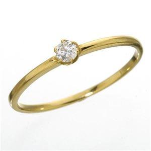 その他 K18 ダイヤリング 指輪 シューリング イエローゴールド 15号 ds-867653