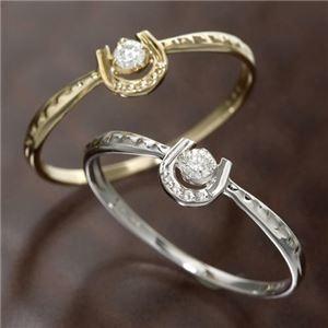 その他 K10馬蹄ダイヤリング 指輪 ホワイトゴールド 19号 ds-867728
