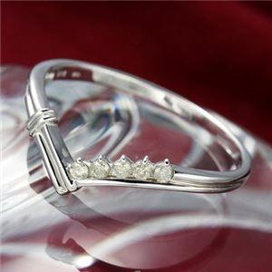 その他 K14ダイヤリング 指輪 Vデザインリング 15号 ds-867797