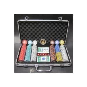 その他 フォースポット・ポーカーセット300 -シルバー(チップセット) ds-480177