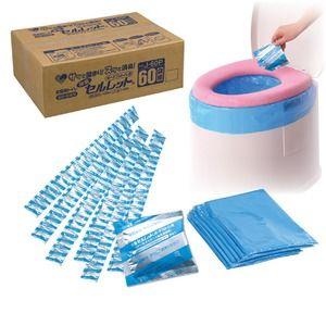 その他 ポータブルトイレ用凝固剤 「除菌セルレット 」 【60袋組】 日本製 (非常用/防災グッズ) ds-521714