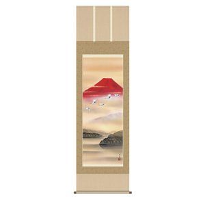 その他 山水掛軸 『赤富士飛翔』 ds-913541