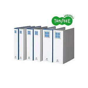 その他 (まとめ)TANOSEE 両開きパイプ式ファイルE A4タテ 30mmとじ 青 30冊 ds-970451