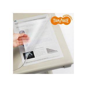 その他 (まとめ)TANOSEE PVCデスクマット<エコノミー> 900×600mm 10枚 ds-970652