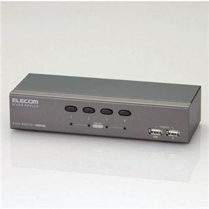 その他 ELECOM(エレコム) パソコン切替器 KVM-NVU4 ds-136183