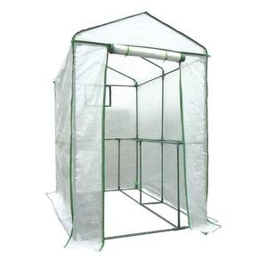 その他 家庭用ビニールハウス(簡易温室) 「グリーンジャンボ」 ファスナー式 メッシュ窓付き 高さ190cm ds-1220266