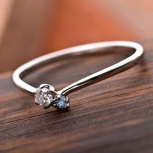 その他 ダイヤモンド リング ダイヤ アイスブルーダイヤ 合計0.06ct 12号 プラチナ Pt950 V字モチーフ 指輪 ダイヤリング 鑑別カード付き ds-1235766