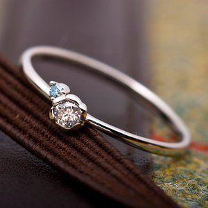 その他 ダイヤモンド リング ダイヤ0.05ct アイスブルーダイヤ0.01ct 合計0.06ct 10.5号 プラチナ Pt950 フラワーモチーフ 指輪 ダイヤリング 鑑別カード付き ds-1235785