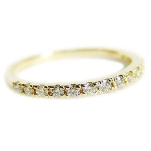 その他 ダイヤモンド リング ハーフエタニティ 0.2ct 11号 K18イエローゴールド 0.2カラット エタニティリング 指輪 鑑別カード付き ds-1235820