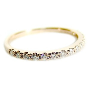 その他 ダイヤモンド リング ハーフエタニティ 0.2ct 10号 K18 ピンクゴールド 0.2カラット エタニティリング 指輪 鑑別カード付き ds-1235829