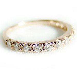 その他 ダイヤモンド リング ハーフエタニティ 0.5ct K18 ピンクゴールド 8号 0.5カラット エタニティリング 指輪 鑑別カード付き ds-1235896