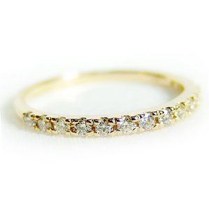 その他 ダイヤモンド リング ハーフエタニティ 0.2ct 12号 K18 イエローゴールド ハーフエタニティリング 指輪 ds-1235933