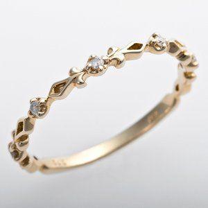 その他 K10イエローゴールド 天然ダイヤリング 指輪 ピンキーリング ダイヤモンドリング 0.03ct 4号 アンティーク調 プリンセス ds-1244525