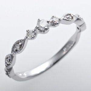 その他 ダイヤモンド ピンキーリング K10ホワイトゴールド 4号 ダイヤ0.09ct アンティーク調 プリンセス ds-1244562