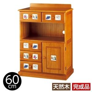その他 サイドボード/リビングボード (南欧風家具) 【3: 幅60cm】 木製 ライトブラウン 【完成品】 ds-1265523