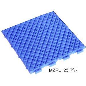 その他 水廻りフロアー プールクッション MZPL-25 16枚セット 色 ブルー サイズ 厚15mm×タテ250mm×ヨコ250mm/枚 16枚セット寸法(1000mm×1000mm) 【日本製】 【防炎】 ds-1284478