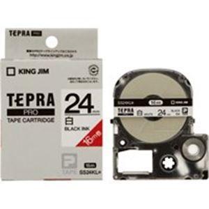 その他 キングジム テプラ PROテープ/ラベルライター用テープ 【24mm】 20個入り ロングタイプ SS24KL ホワイト(白) ds-1295549