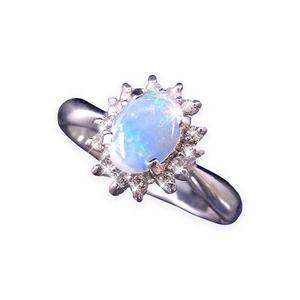 その他 大粒オパール&ダイヤリング 指輪 17号 ds-1313828