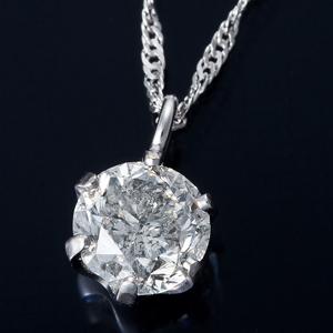その他 K18WG 0.3ctダイヤモンドペンダント/ネックレス スクリューチェーン ds-1316300