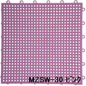 その他 水廻りフロアー サワーチェッカー MZSW-30 16枚セット 色 ピンク サイズ 厚13mm×タテ300mm×ヨコ300mm/枚 16枚セット寸法(1200mm×1200mm) 【日本製】 【防炎】 ds-1284506