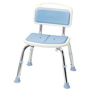 その他 シャワーベンチ 【3: 背付き】 座面高調節可 やわらかマット付き ライトブルー ds-1332700