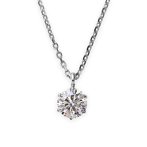 その他 ダイヤモンドペンダント/ネックレス 一粒 K18 ホワイトゴールド 0.4ct ダイヤネックレス 6本爪 Kカラー I1クラス Poor 中央宝石研究所ソーティング済み ds-1341992