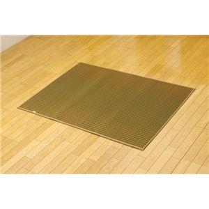 その他 純国産 シンプルい草ラグカーペット『Fリブロ』 グリーン 140×200cm ds-1408868