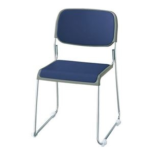 その他 ジョインテックス 会議椅子(スタッキングチェア/ミーティングチェア) 肘なし 座面:合成皮革(合皮) FRK-S2LN NV ネイビー 【完成品】 ds-1324202