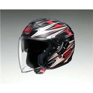 その他 ジェットヘルメット シールド付き J-CRUISE CLEAVE TC-1 レッド/ブラック M 【バイク用品】 ds-1443082