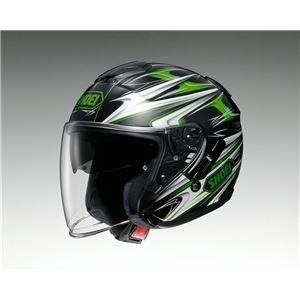 その他 ジェットヘルメット シールド付き J-CRUISE CLEAVE TC-4 グリーン/ブラック L 【バイク用品】 ds-1443087